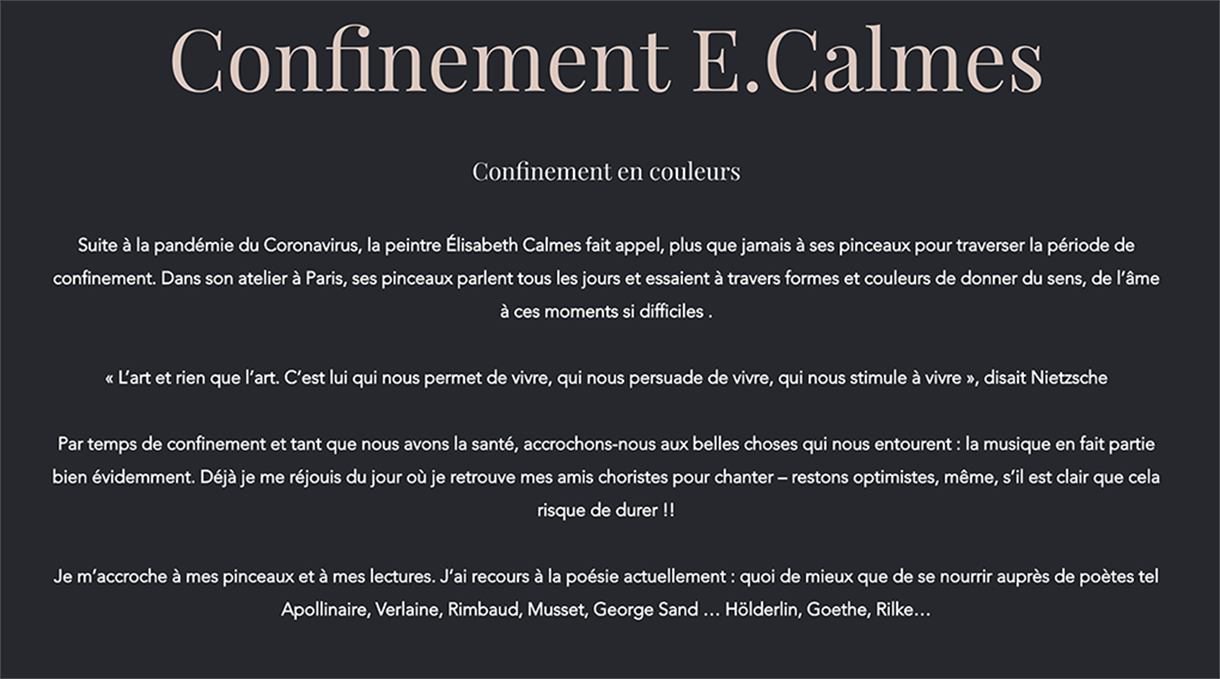 Confinement E. Calmes