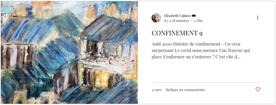 Confinement Elisabeth Calmes